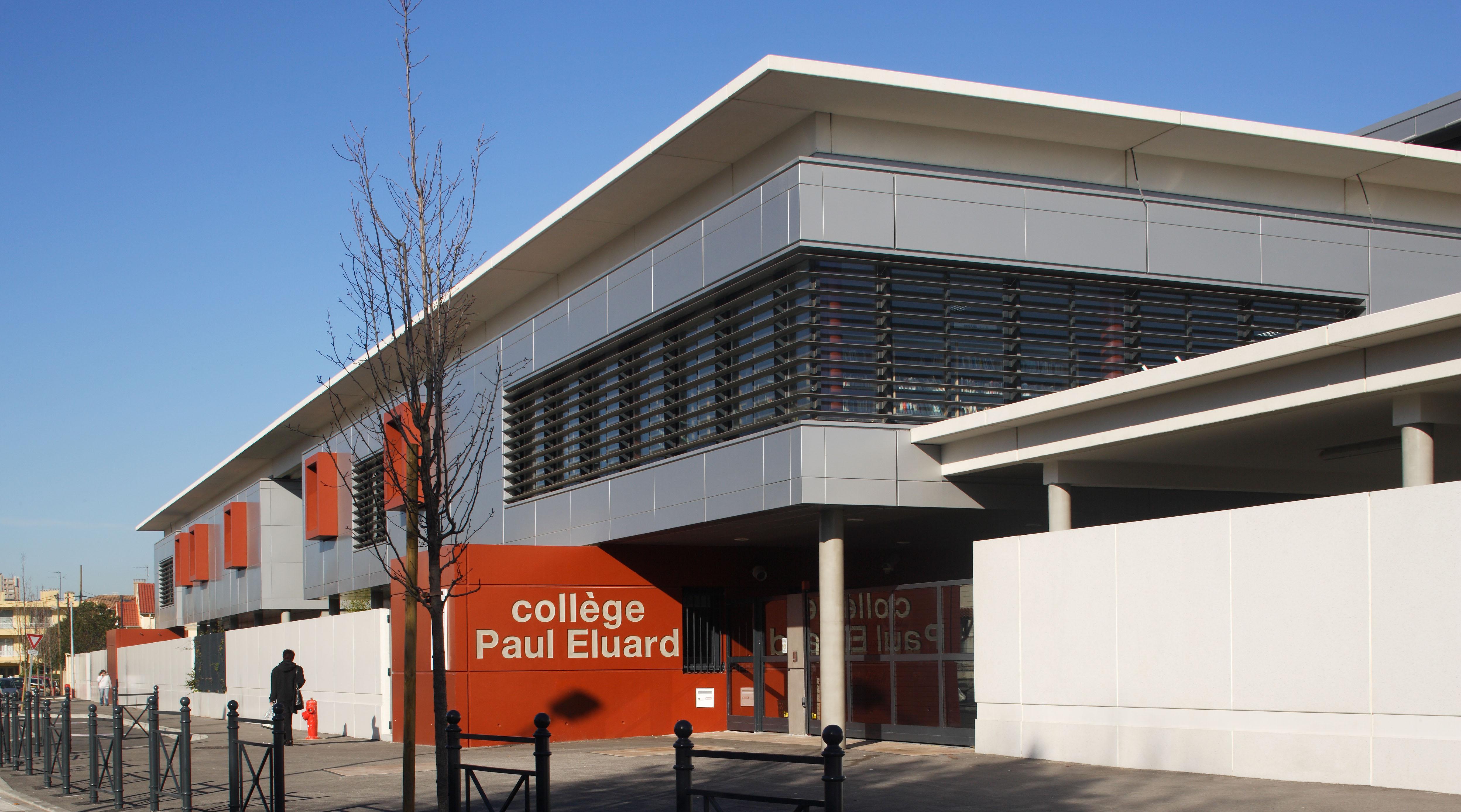 Devanture Collège Paul Eluard
