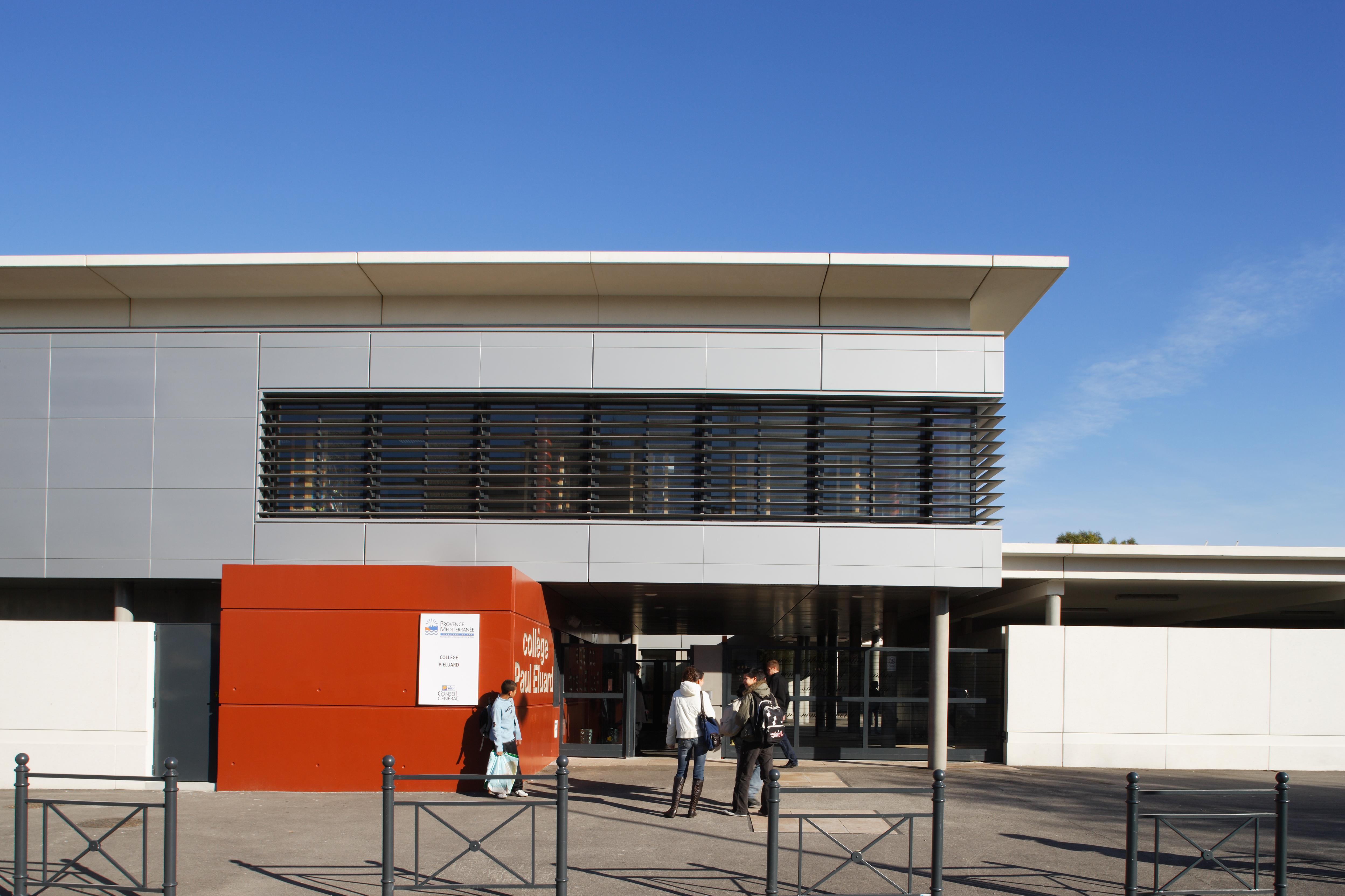 Devanture Collège Paul Eluard par AAPL architectes DPLG VAR