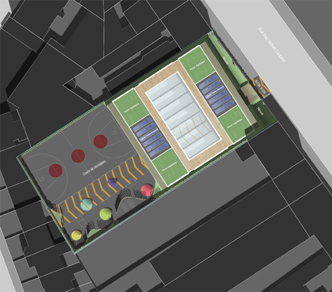 Plan 3D de l'école maternelle Ivry sur Seine par AAPL architecte DPLG VAR