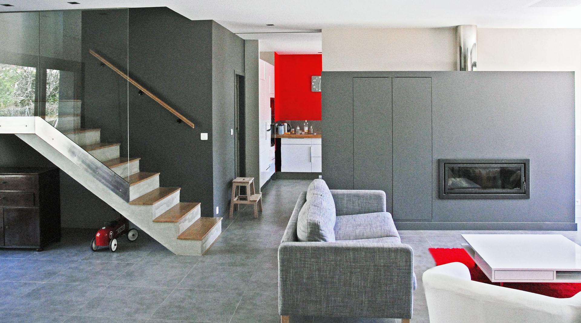 Interieur Maison Moderne Architecte construction maison individuelle bbc moderne et design