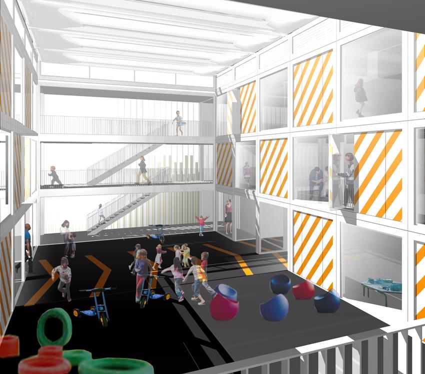 Ecole Maternelle Ivry sur Seine en 3D par AAPL Architecte DPLG VAR