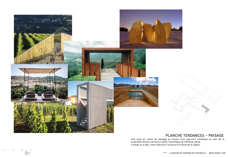 Paysage de la Bastide du domaine de Canterelle par AAPL architecte DPLG VAR